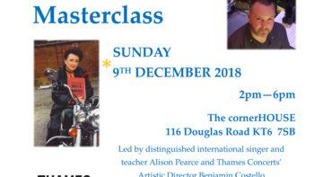Sunday 9 December 2018Student Singers' Masterclass