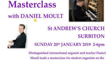 Sunday 20 January 2019Student organist's masterclass