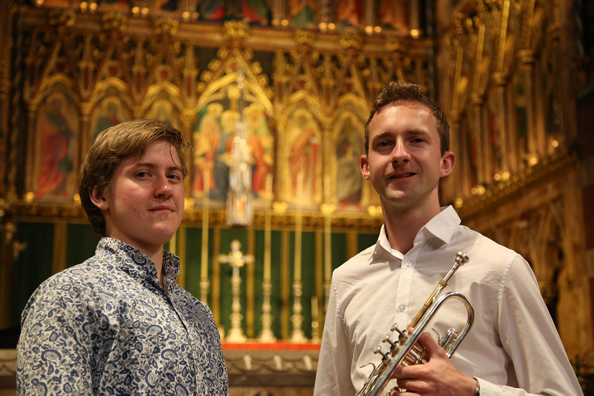 Saturday 13th January 2018Darren Moore (trumpet)Jeremiah Stephenson (organ)